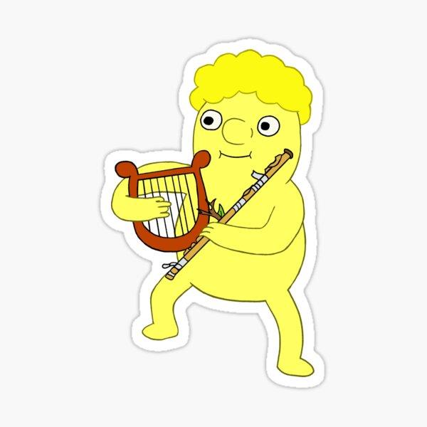 lemonhope with harp and flute Sticker