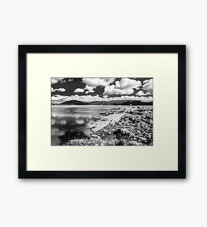 Studying Lake Jemez in the Valles Grande Framed Print