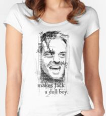 All work and no play makes Jack a dull boy. Women's Fitted Scoop T-Shirt
