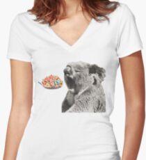 Erhebe deinen Koala gut Shirt mit V-Ausschnitt