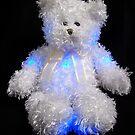 Blushing Blue Bear by ArtBee