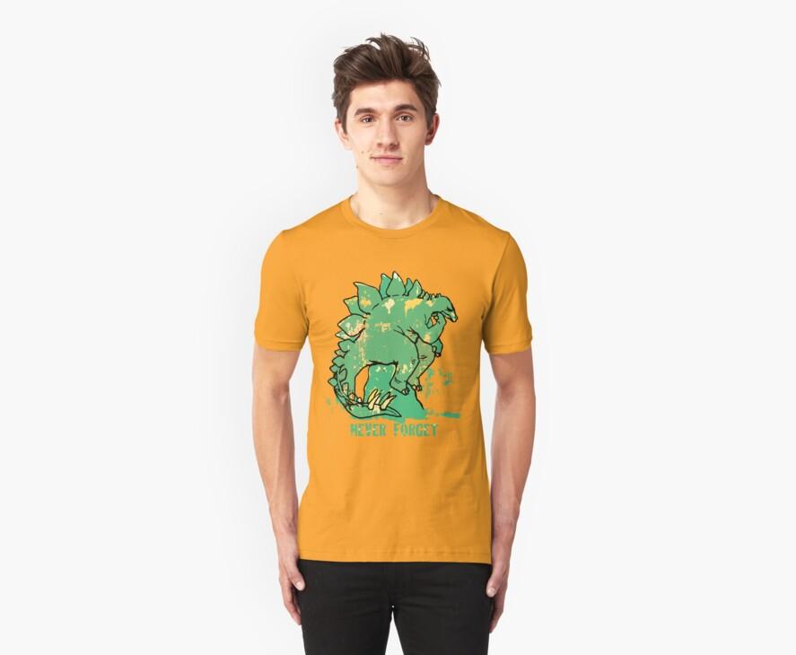 Never Forget Stegosaurus by MudgeStudios
