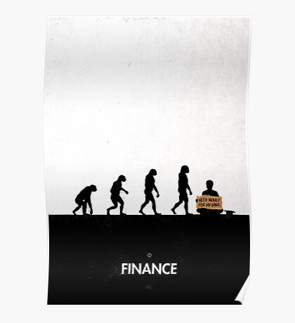 99 Steps of Progress - Finance Poster