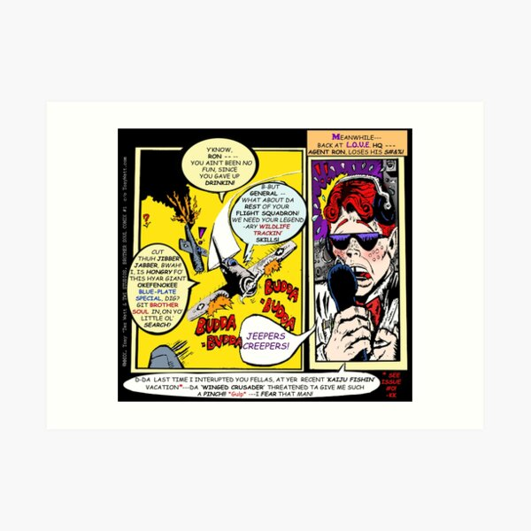"""Brother Soul Comix! - Book #1!  """"Planet of the Grapes!"""" -Page #2 [Self-Pressed to PRINT a page-a-day ] Art Print"""