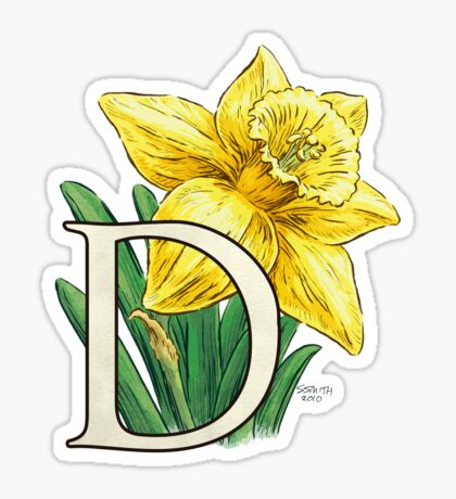 D is for Daffodil Sticker