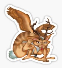 Wolpertinger (brown) Sticker