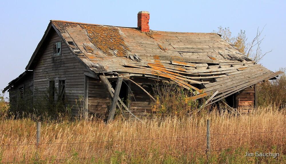 Abandoned Prairie Farmhouse by Jim Sauchyn