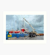 Coming Back in Nassau from a Regatta in Freeport - The Bahamas Art Print