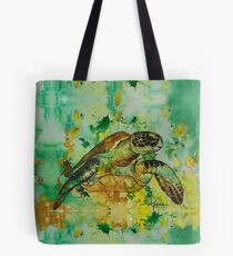 india ink green  Tote Bag