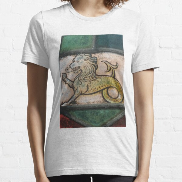 medieval lion dragon stained glass Essential T-Shirt