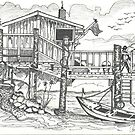 OLD BOAT CAFE by Charles Adams