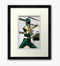 The Mighty Morphin Green Rangers Framed Print