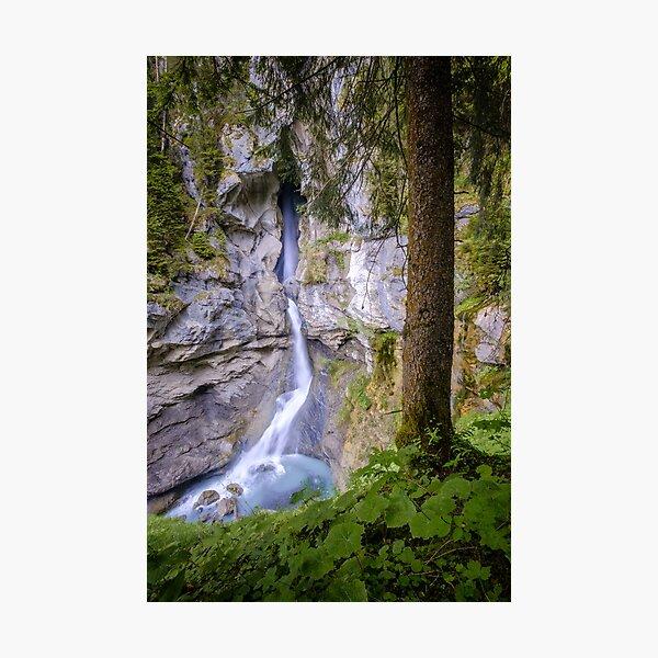 Pochtenfall waterfall, Switzerland Photographic Print
