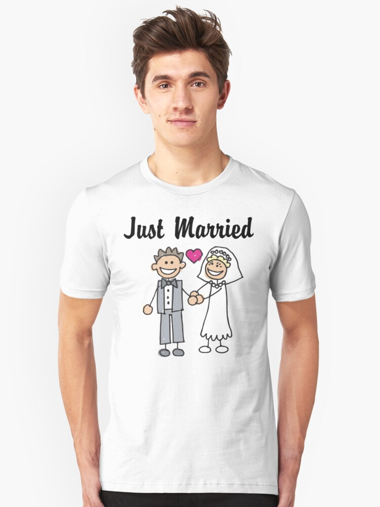 Just Married Unisex T-Shirt Front