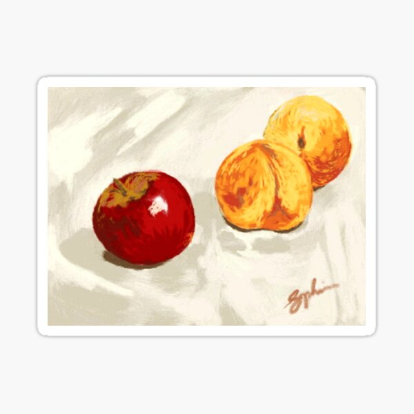 Apple and Peaches Sticker