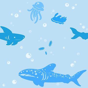 Marine Life Blues by RaspberryMoon