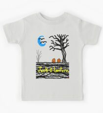 halloween jack o lantern Tia Knight Kids Tee