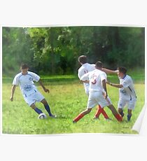 Soccer Ball in Play Poster