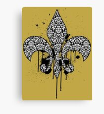 Damask Drips Canvas Print