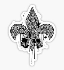 Damask Drips Sticker