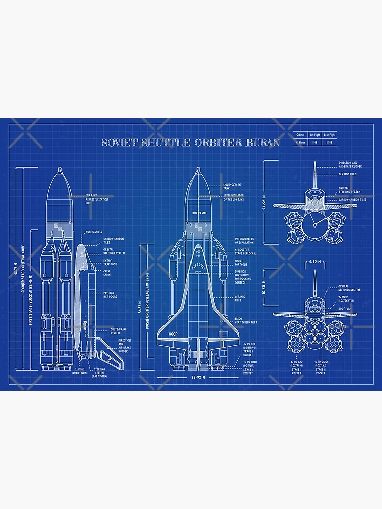 Buran: Soviet Shuttle Orbiter (Blueprint-English) by BGALAXY