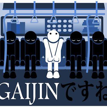 Gaijin in Tokyo by twilightphe0nix