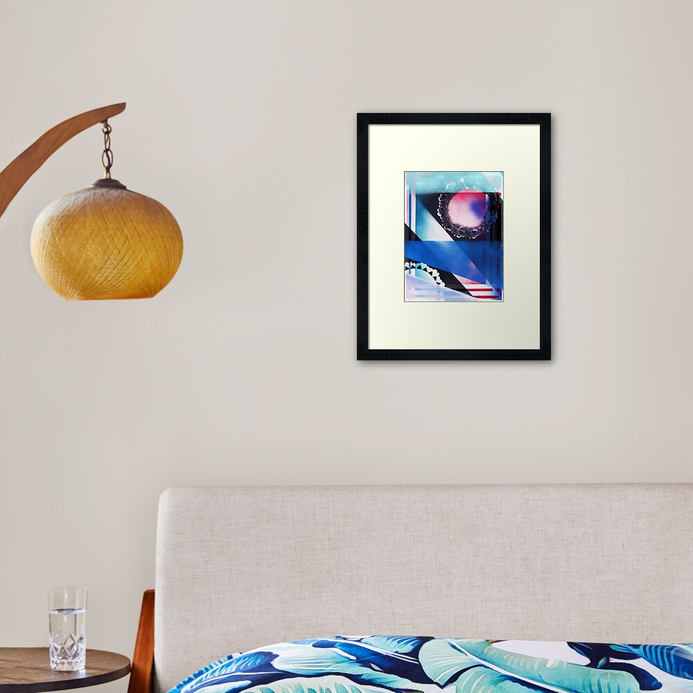 Blue Light Special Framed Art Print