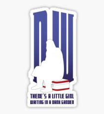 There is a little girl waiting... Sticker