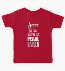 Alice In The Temple Of Pearl Garden Kids Tee