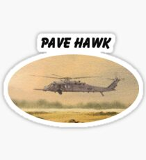 Pave Hawk Helicopter HH-60 On A Mission Sticker