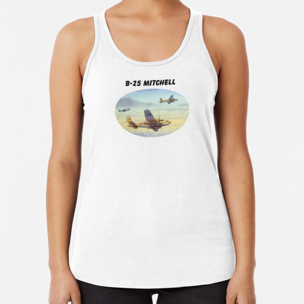 B-25 Mitchell Aircraft Racerback Tank Top