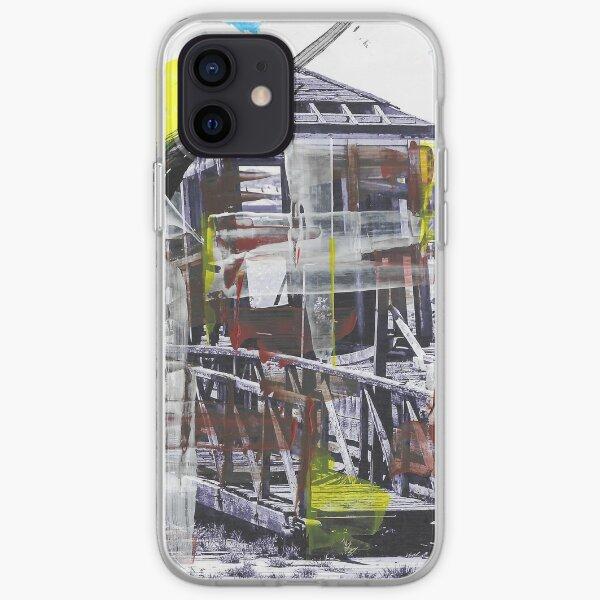 WATCHMANS HUT - Derelict Wooden Hut, Pier Head, Liverpool (2011) - overpainted photoart iPhone Soft Case