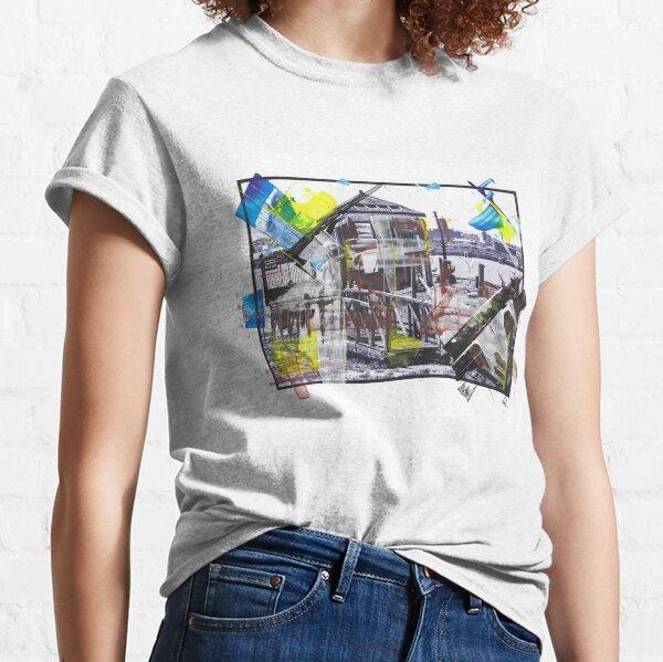 WATCHMANS HUT - Derelict Wooden Hut, Pier Head, Liverpool (2011) - overpainted photoart Classic T-Shirt