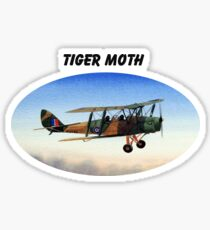 Tiger Moth Aircraft Sticker