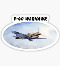 P-40 Warhawk Aircraft Sticker