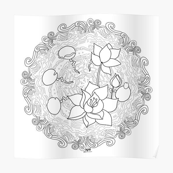 Mandala lotus Poster
