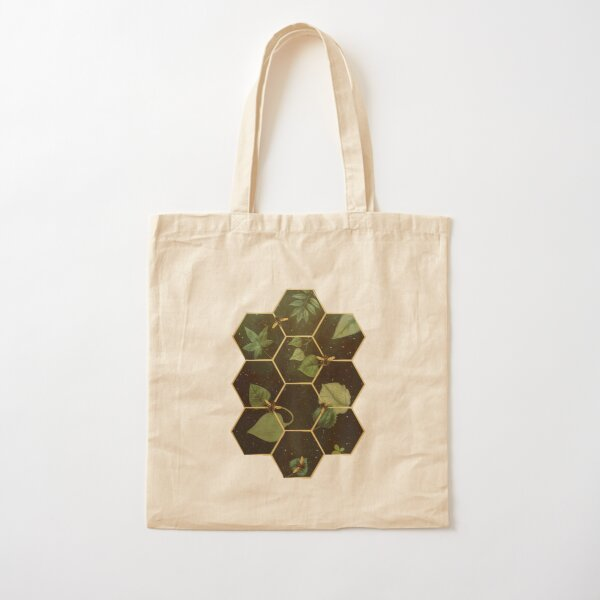 Bees in Space  Cotton Tote Bag