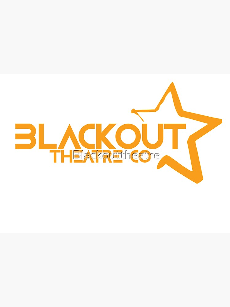 Blackout Theatre Company Logo (Gold Print) by Blackouttheatre