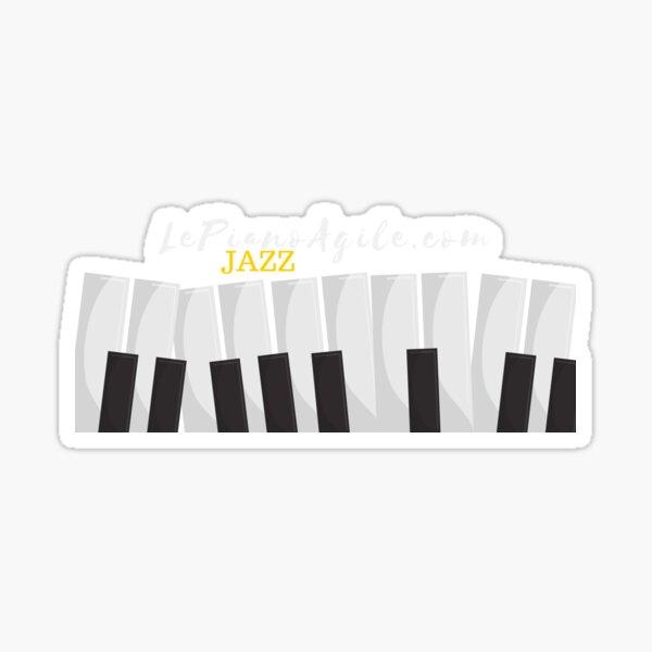 Le Piano Jazz Agile - The Agile Jazz Piano Sticker