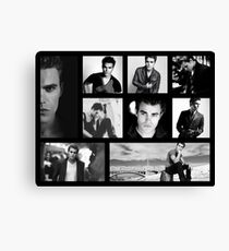 Paul Wesley in Black and White Canvas Print