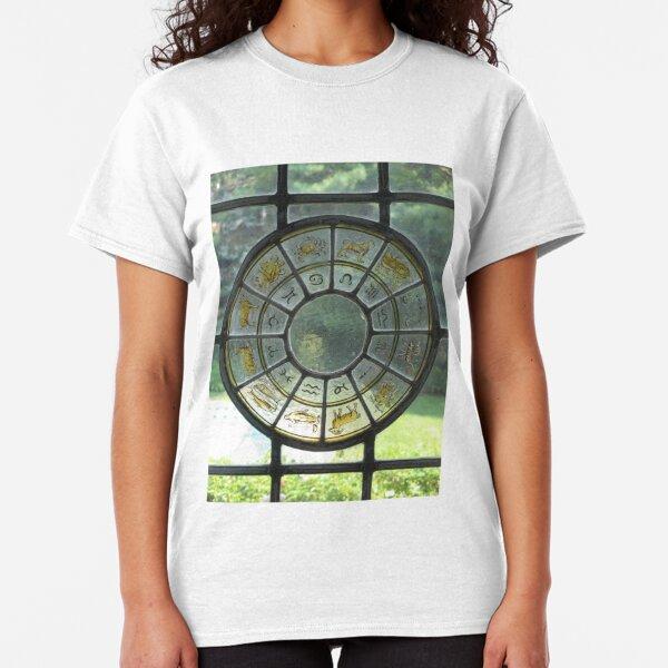 zodiac stained glass window Classic T-Shirt