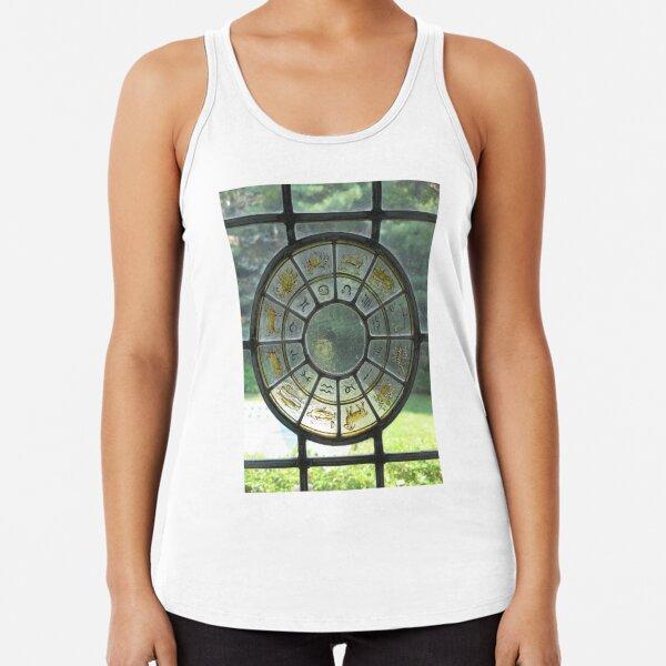 zodiac stained glass window Racerback Tank Top