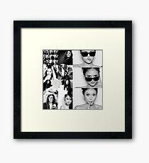 Nina Dobrev in Black and White Framed Print