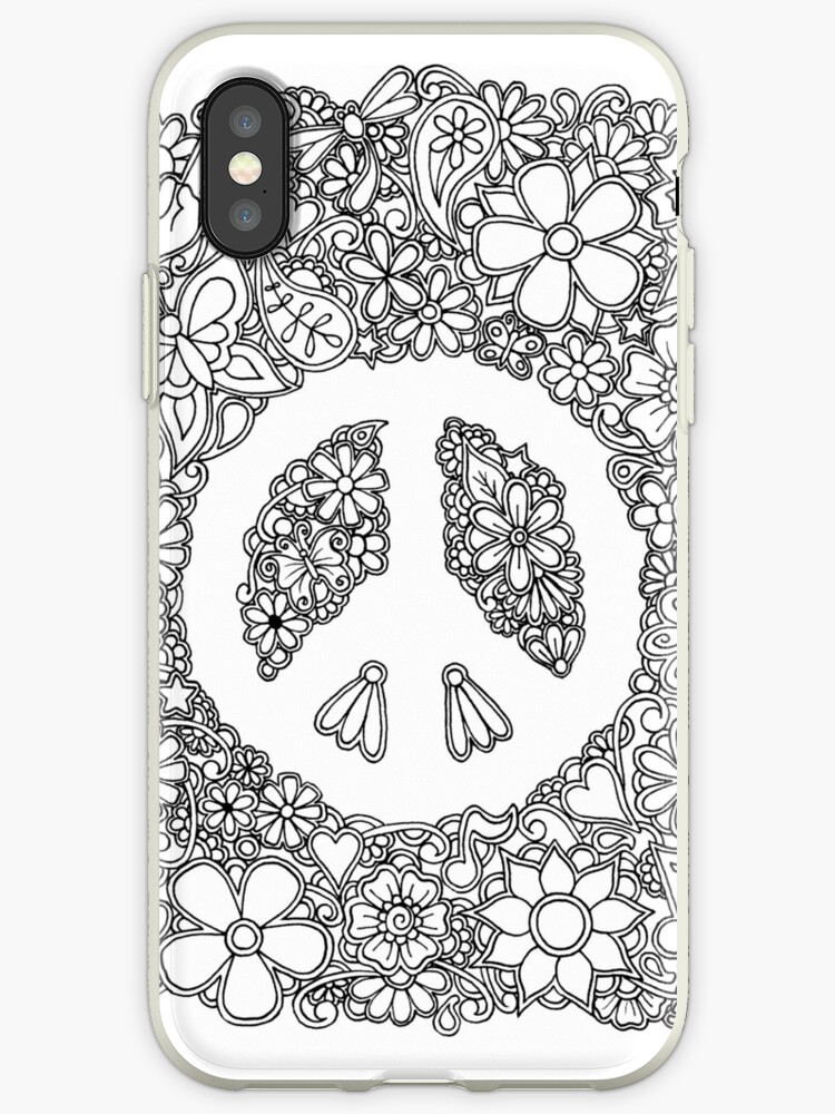 Peace Love And Coloring Iphone Cases Covers By Tabitha Barnett