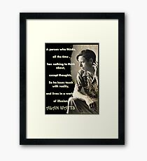 Alan Watts - On Illusion - Prints and Cards Framed Print