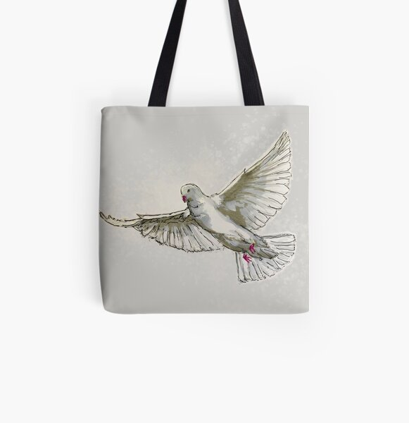 a dove ... symbol for peace and also for the holy ghost All Over Print Tote Bag