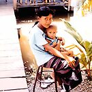 Takhli children... by Allan  Erickson