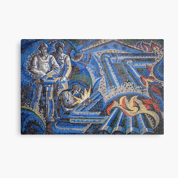 Soviet Mosaic from Chisinau, Moldova #2 Metal Print