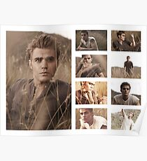 Paul Wesley grass photoshoot Poster