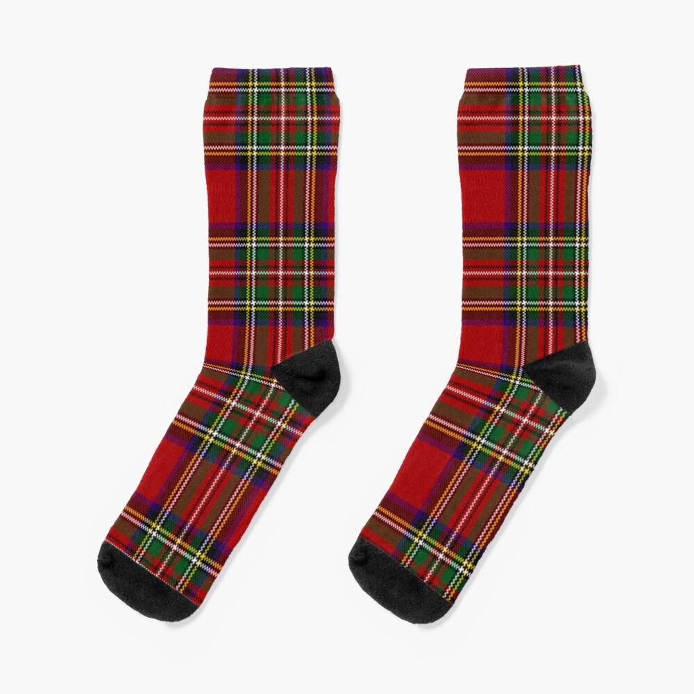 Red Tartan, Stewart Clan Socks